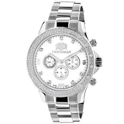 Luxurman Men's Diamond Watch Liberty 2535