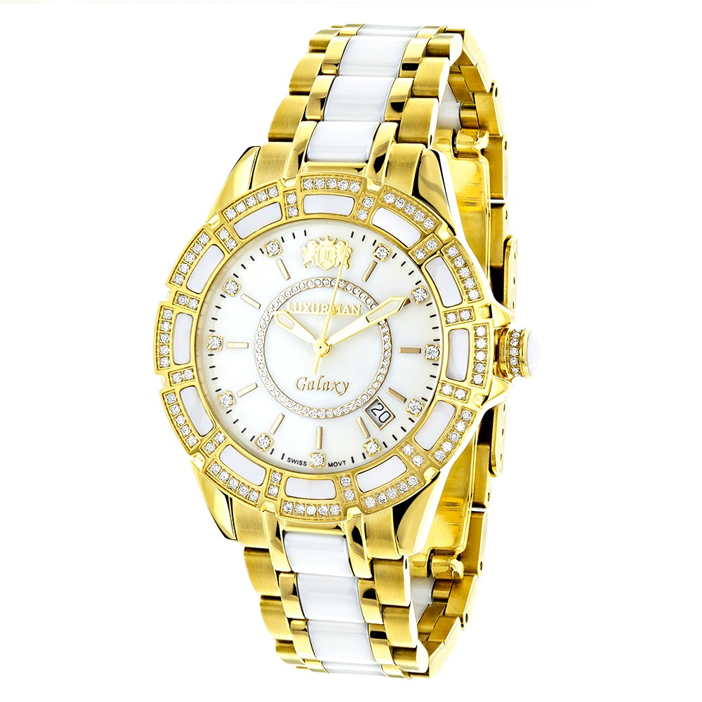 6e395c8b0fc6 Luxurman Women s Diamond Watch Galaxy 2544