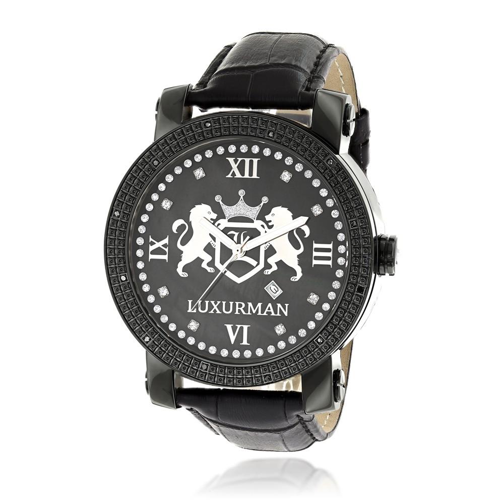 c28b45e8fed Luxurman Men s Diamond Watch Phantom 2721 - Mens Diamond Watches