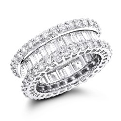 Diamond Eternity Band 5.5ct in 14K Gold