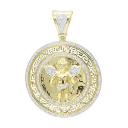 Unique diamond pendants for men genuine diamonds mens diamond pendant 095ct in 14k gold aloadofball Choice Image