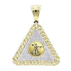 Unique diamond pendants for men genuine diamonds mens diamond pendant 105ct in 10k gold aloadofball Choice Image