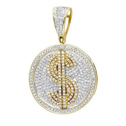 Unique diamond pendants for men genuine diamonds mens diamond pendant 165ct in 10k gold aloadofball Choice Image