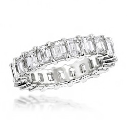 Diamond Eternity Band 6.64ct in Platinum