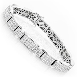 Men's Diamond Bracelet 6.04ct in 14K Gold