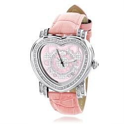 Luxurman Women's Diamond Watch Heart 2261