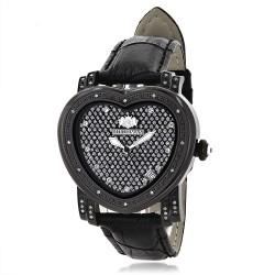 Luxurman Women's Diamond Watch Heart 2269