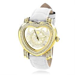 Luxurman Women's Diamond Watch Heart 2324