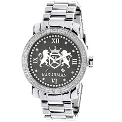 Luxurman Men's Diamond Watch Phantom 2704