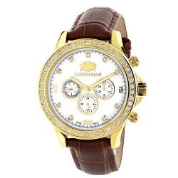 Luxurman Men's Diamond Watch Liberty 2852