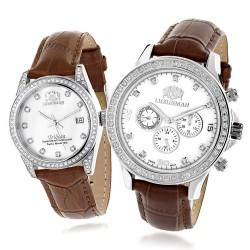 Luxurman  Diamond Watch His & Hers 2857