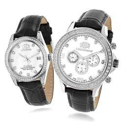 Luxurman  Diamond Watch His & Hers 2858