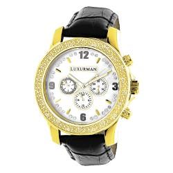 Luxurman Men's Diamond Watch Raptor 2171