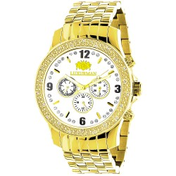 Luxurman Men's Diamond Watch Raptor 2178