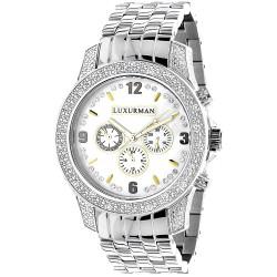 Luxurman Men's Diamond Watch Raptor 2186