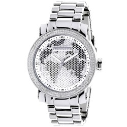 Luxurman Men's Diamond Watch Phantom 2206