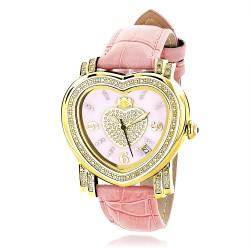 Luxurman Women's Diamond Watch Heart 2216