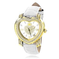Luxurman Women's Diamond Watch Heart 2212