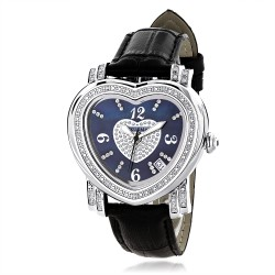Luxurman Women's Diamond Watch Heart 2215