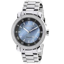 Luxurman Men's Diamond Watch Phantom 2369