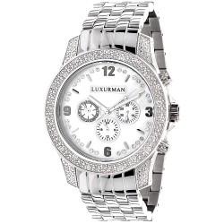 Luxurman Men's Diamond Watch Raptor 2189