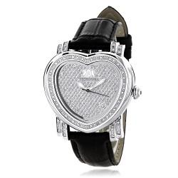 Luxurman Women's Diamond Watch Heart 2260