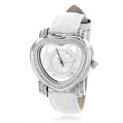 Luxurman Women's Diamond Watch Heart 2262