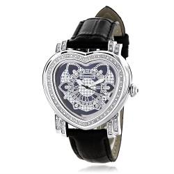 Luxurman Women's Diamond Watch Heart 2263