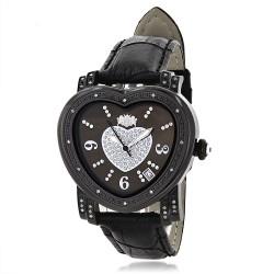 Luxurman Women's Diamond Watch Heart 2360
