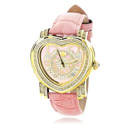 Luxurman Women's Diamond Watch Heart 2325