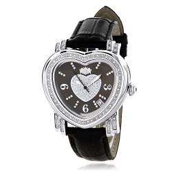 Luxurman Women's Diamond Watch Heart 2528