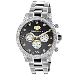 Luxurman Men's Diamond Watch Liberty 2689